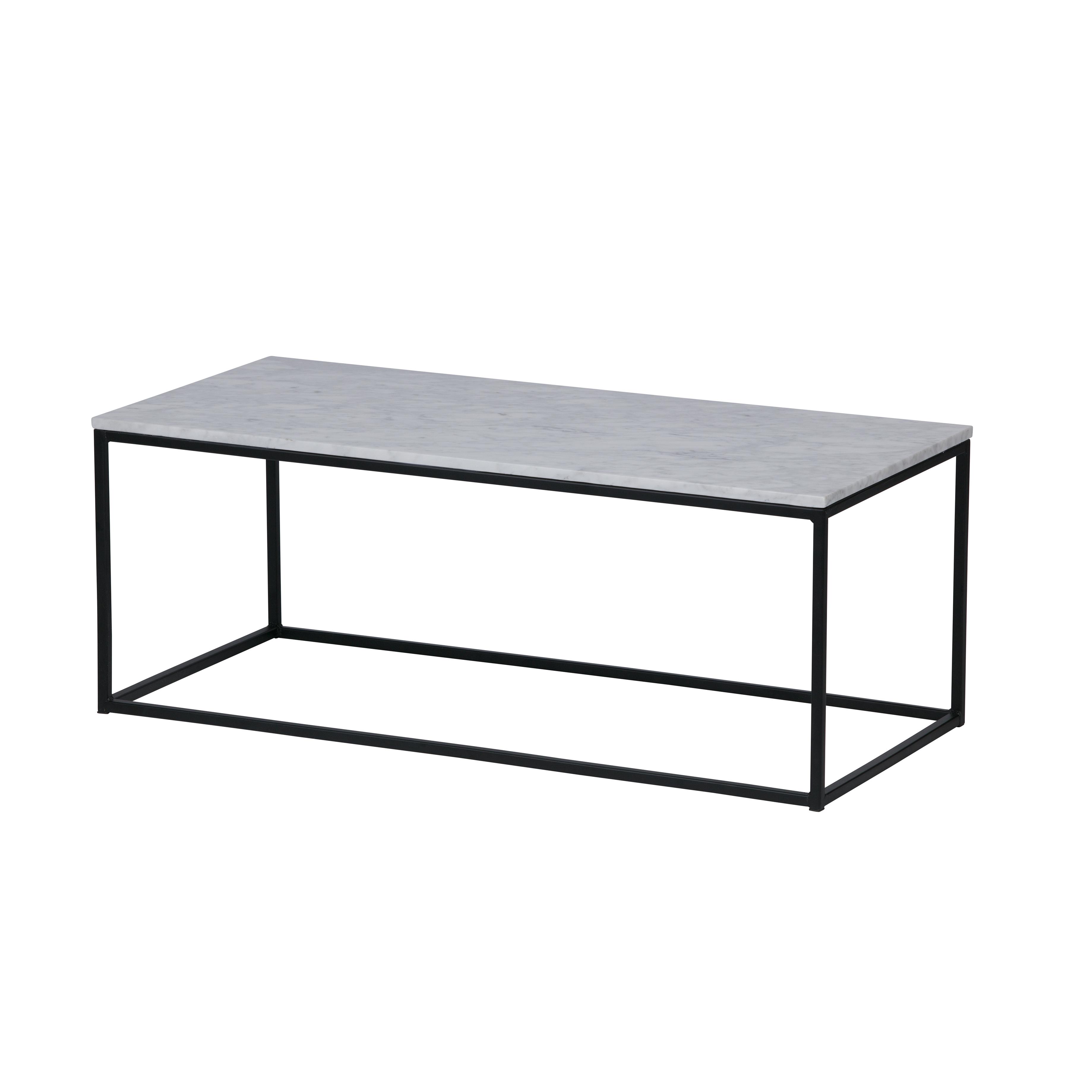 Beroemd Thor salontafel met wit marmer blad - Interieurwinkel #NK49